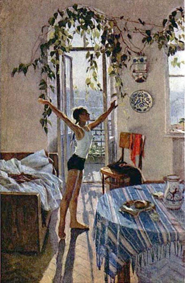 картина яблонской утро фото описание ничего получалось разным