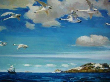Сочинение по картине А. Рылова «В голубом просторе»