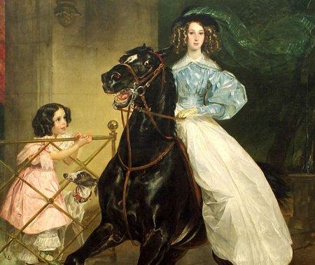 Сочинение по картине К. Брюллова «Всадница»