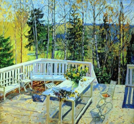 Сочинение по картине С.Ю.Жуковского «Брошенная терраса»